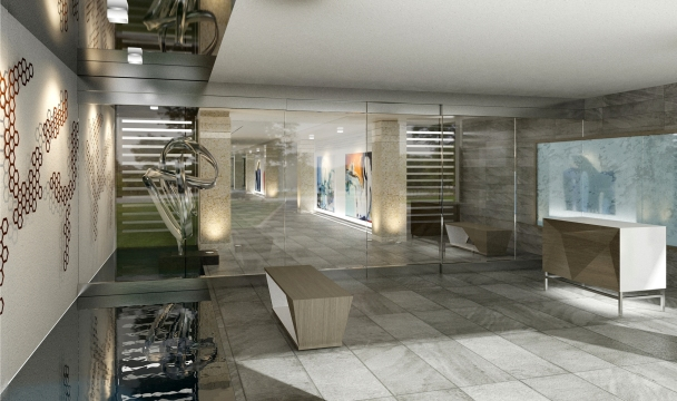 Bridge Hotel Lobby Rendering