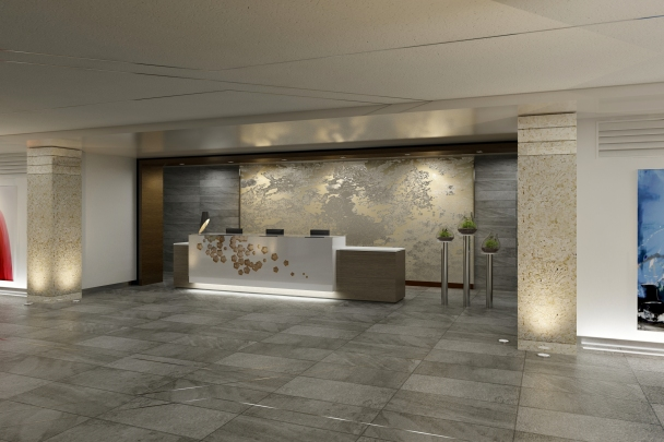 Bridge Hotel Reception Rendering