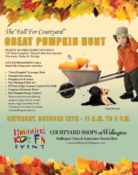 Fall for Courtyard Great Pumpkin Hunt Poster